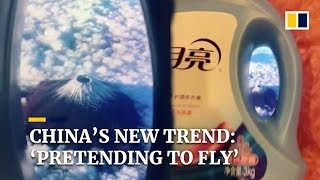 'Pretending to fly' challenge goes viral on Chinese social media