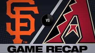 Dickerson collects 6 RBIs in Giants debut  | Giants-D-backs Game Highlights 6/21/19
