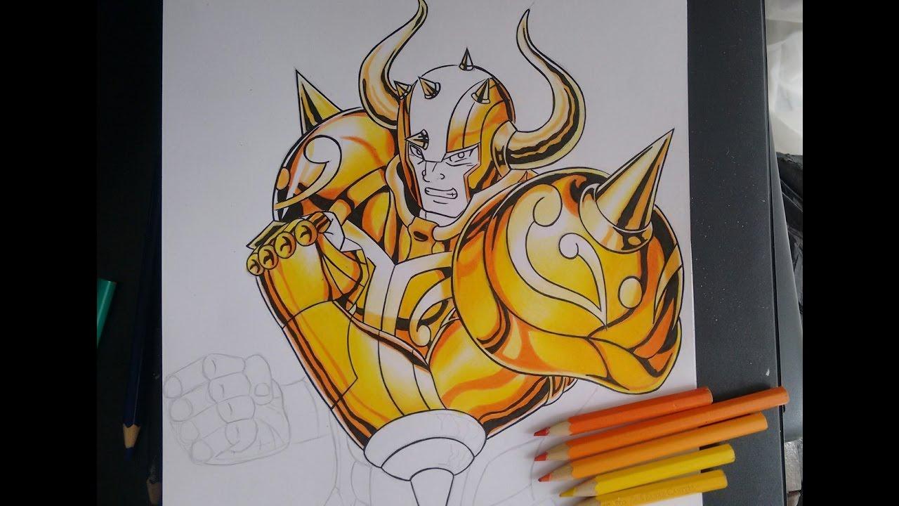 2 Tutorial Como Colorir Armaduras De Ouro Saint Seiya Youtube