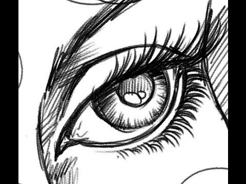 How to draw - Eyes - Comic Book Style - YouTube