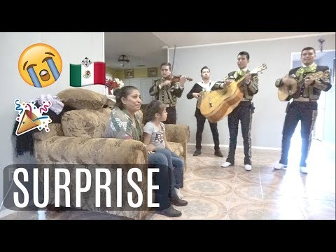 SURPRISING MY MOTHER IN LAW WITH A MARIACHI BAND (she cried) | VIVECA FRIAS