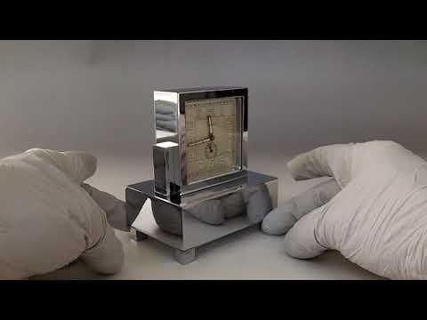 Antique Swiss Wind Up Musical Alarm Clock