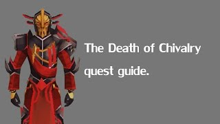 The Death of Chivalry RuneScape quest guide