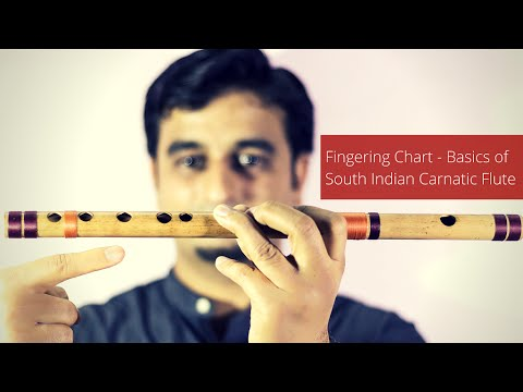 Basic Carnatic Flute Lesson - Fingering Chart for Carnatic Flute Beginners - © Sriharsha Ramkumar