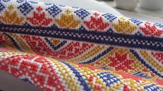 Бархатный шов в вышивке крестом. Свадебный рушник. 3 часть