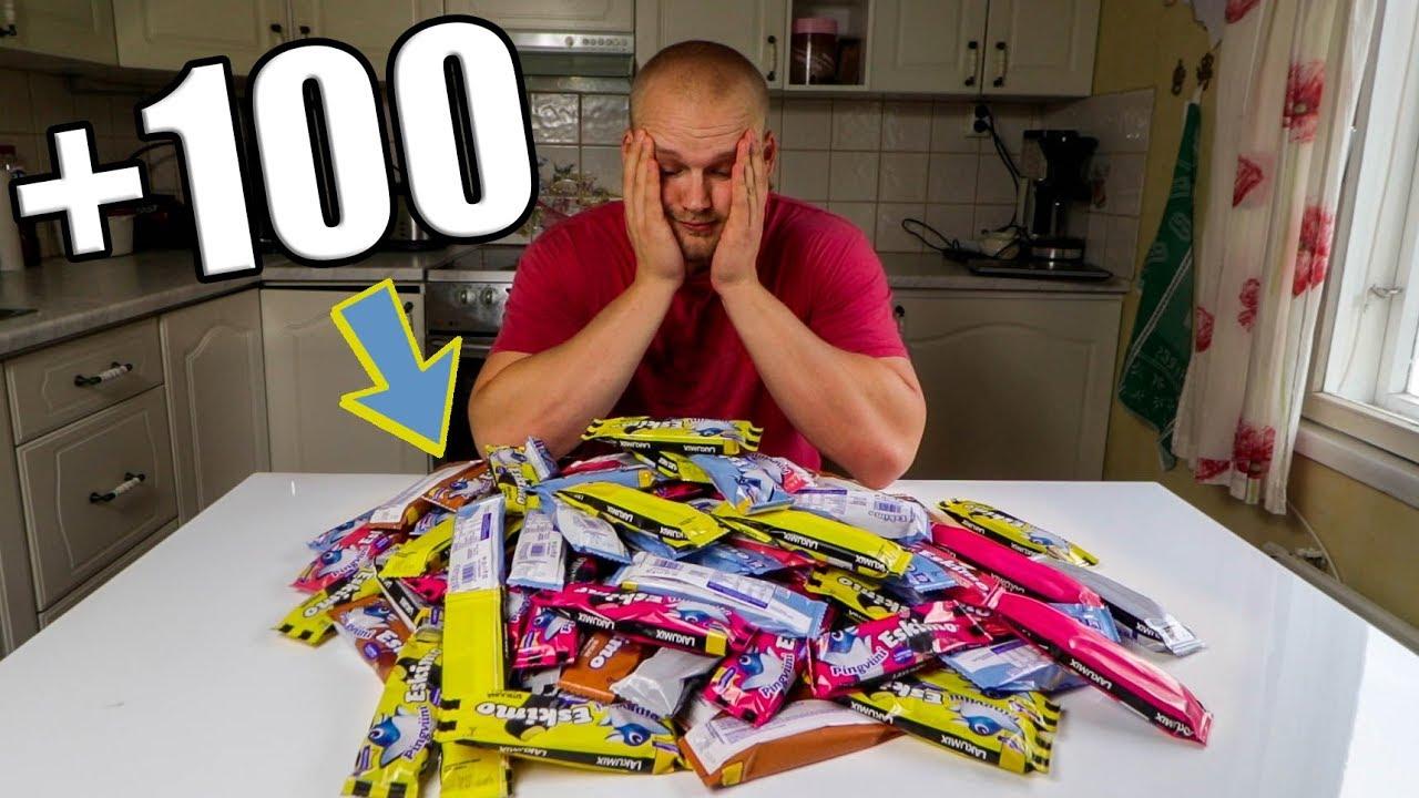100+ JÄÄTELÖÄ (~10 000 kcal)