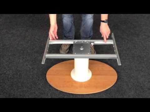 Gamba tavolo cosmo 2 con sblocco facilitato youtube - Mollettone per stirare sul tavolo ...
