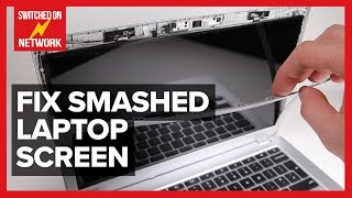How to Replace a Broken, Cracked or Smashed Laptop LCD screen - DIY display replacement at home!