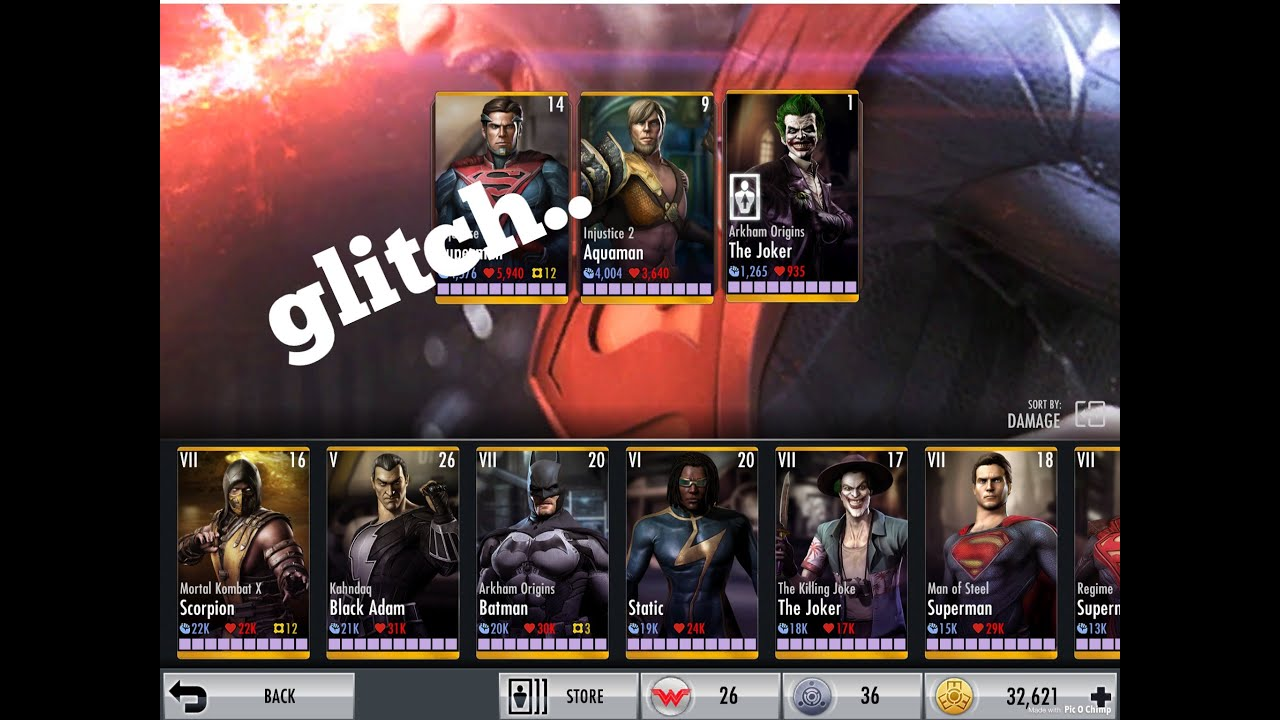 injustice gods among us android time glitch