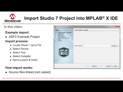 Getting Started - AVR® in MPLAB® X - Import Studio 7 Project into
