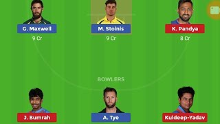 IND vs AUS 1st T20 Playing11| Dream11 Team and Playerzpot team news|