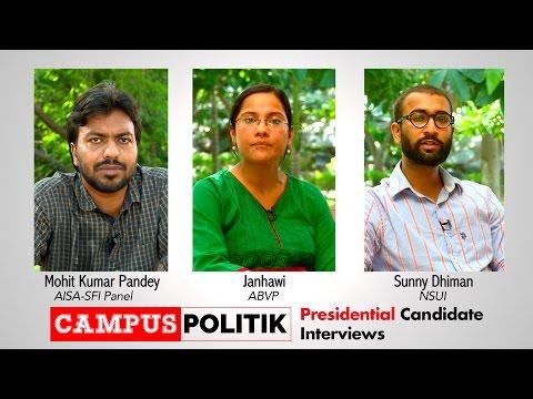 CampusPolitik Interviews: JNUSU Election Presidential Candidates
