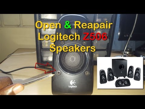 How to open and repair Logitech Z506 Speakers