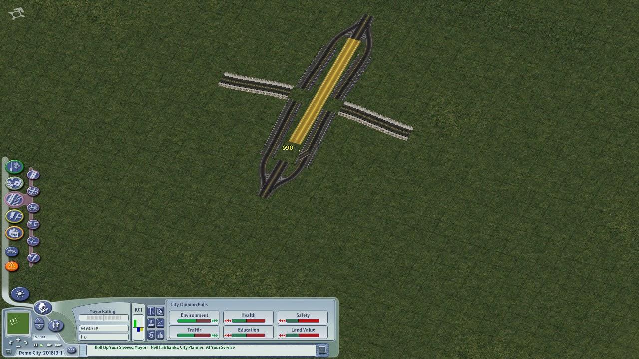 hight resolution of quick rhw 2 x road interchange build