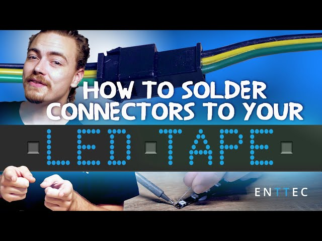 How to solder connectors to your LED tape