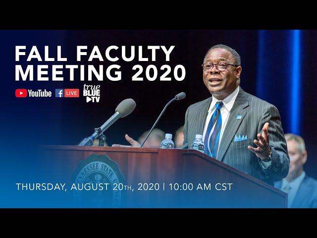 MTSU Fall Faculty Meeting 2020