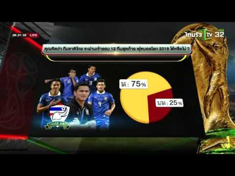 โพลสำรวจความคิดเห็นไทยไปบอลโลก | 30-03-59 | เช้าข่าวชัดโซเชียล | ThairathTV