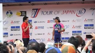 Tour of Japan2016 伊豆ステージ 新城選手優勝者インタビュー