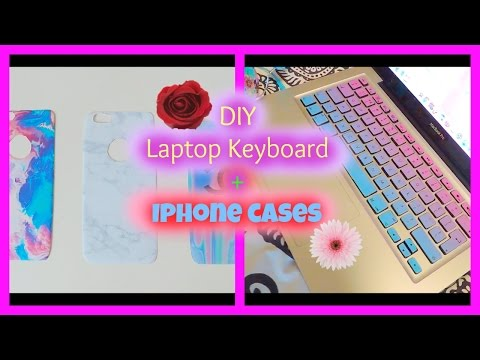 DIY laptop keyboard cover + Iphone cases