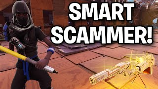 SMART Scammer Goes CRAZY after I did this... 🤓😂 (Scammer Get Scammed) Fortnite Save The World