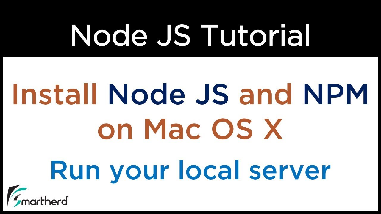 How to install Node JS in Mac OS X  Run local web server in Node  Create  first application on Node