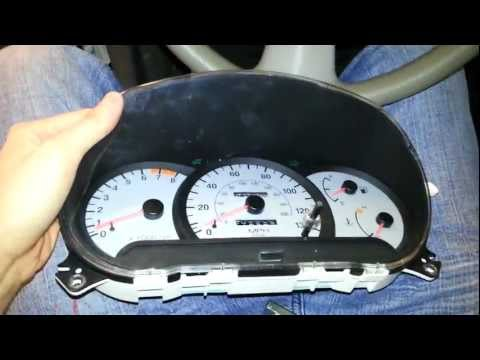 2002 Hyundai Accent Instrument Cluster Troubleshoot Or Replacement