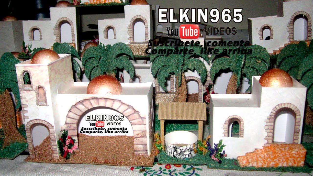 Casitas para pesebre en cart n 2013 youtube - Casas para belenes hechas a mano ...