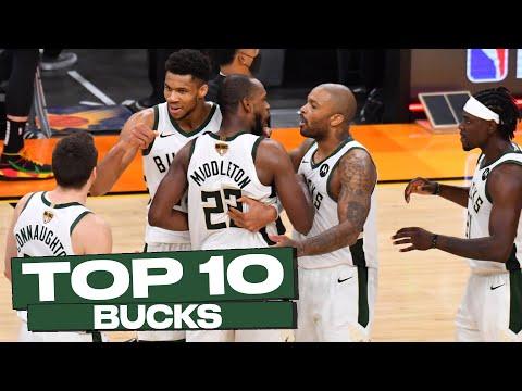 Top 10 Milwaukee Bucks Postseason Plays!🦌🏆