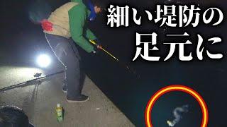 堤防の足元で高級魚を釣り上げろ!!