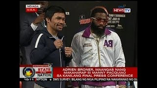Adrien Broner, maangas nang makaharap si Manny Pacquiao sa kanilang final press conference