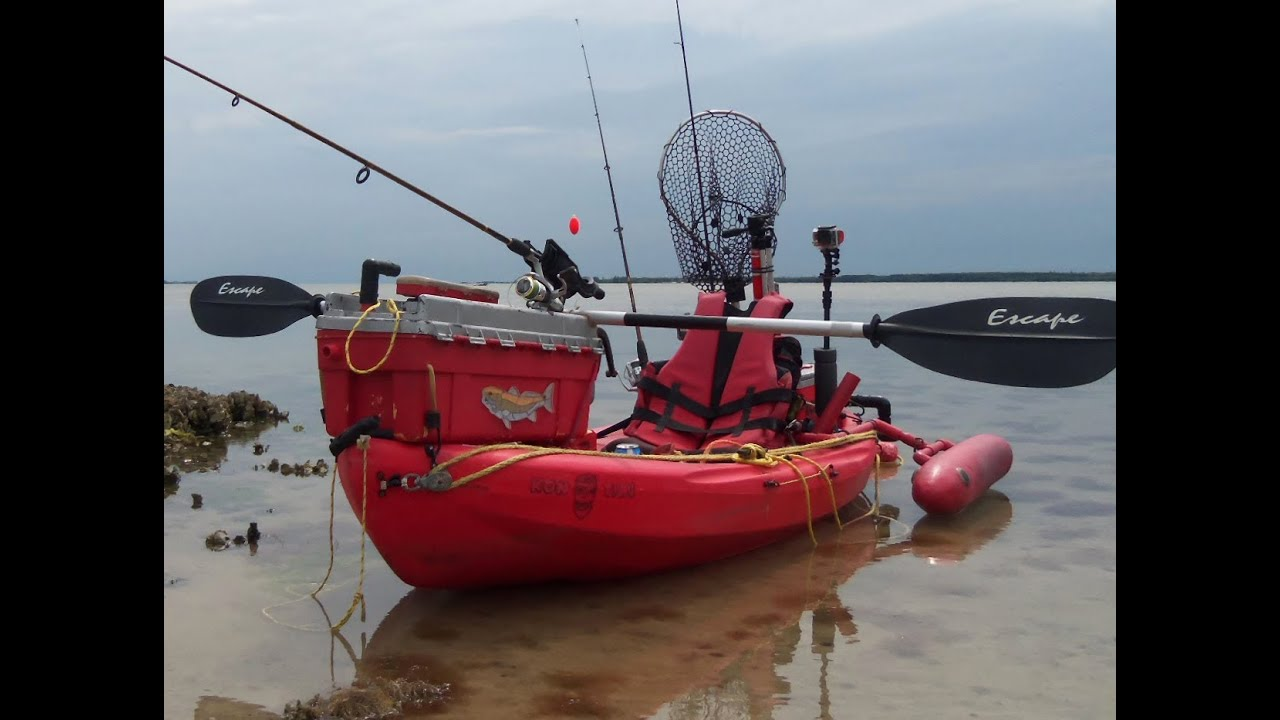 Poor man 39 s fishing kayak rigging update 2014 youtube for How to kayak fish