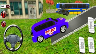 US Police Prado Car Transporter - Offroad Multi Trailer Truck Driving - Android Gameplay