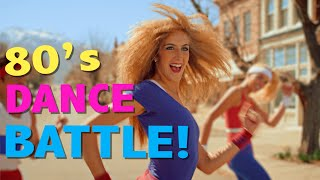 80's AEROBIC DANCE BATTLE! // ScottDW