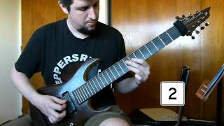 Meshuggah Bleed Guitar Cover - with metronome
