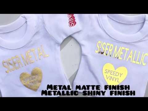 Sisers New Metal HTV vs Siser Metallic HTV How to Cut/Peel/Press with Speedy Vinyl