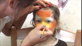 Tiger Face Painting. Мастер класс аквагрим