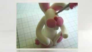 Делаем зайца из пластилина
