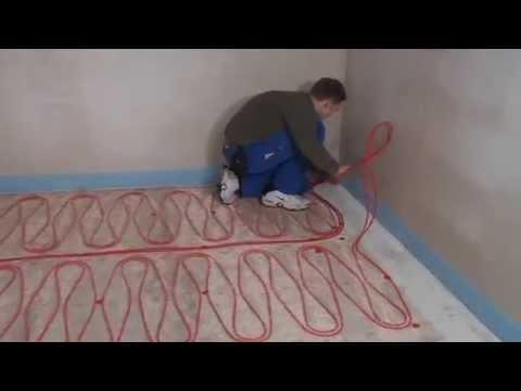 Seneste Lægning af gulvvarmemåtter på betongulv. - YouTube QC12