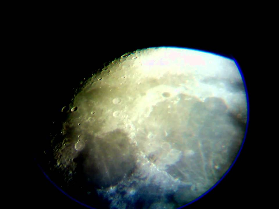 moon with telescope celestron powerseeker 50az youtube