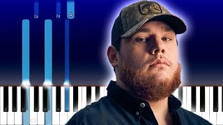 Download Luke Combs - Even Though I'm Leaving (Piano Tutorial) Mp3 and Videos