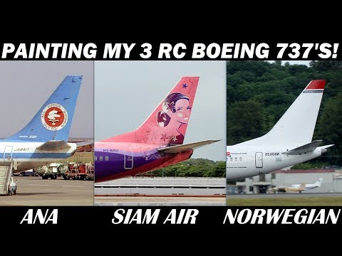 Painting My New 3 RC 737 Airplanes!
