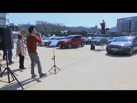 شاهد: كنيسة في كوريا الجنوبية تتيح لأتباعها حضور القداس و الصلاة من السيارات …  - نشر قبل 6 ساعة