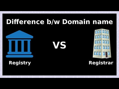 difference between domain name registrar and registry
