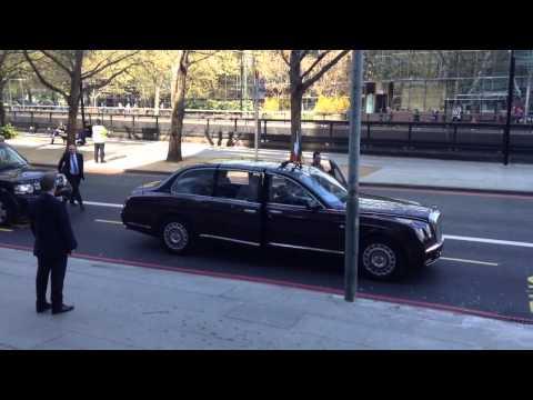 President Michael D Higgins motorcade in London