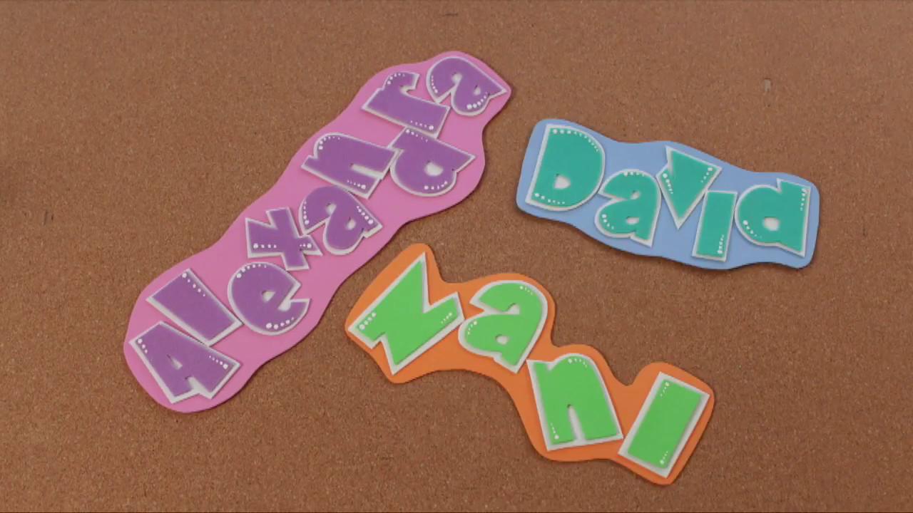 C mo hacer letras con goma eva foamy hazlo t for Cosas para hacer con goma eva