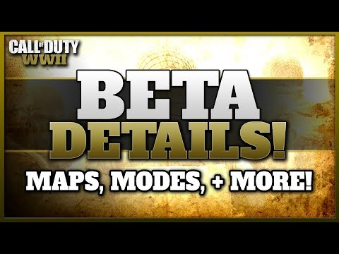 CoD WW2 BETA Details & Trailer! | Maps, Modes, Divisions, & More!!