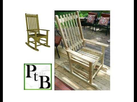 Pressure Treated Outdoor Rocking Chair