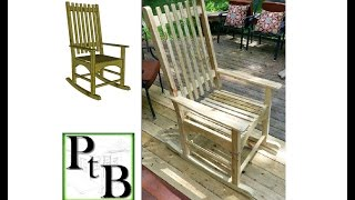 Outdoor Rocking Chair Built with Pressure treated lumber. Plans available: https://plan-to-build.com/download-Rocking-Chair/ Read