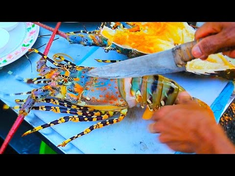 Thai Street Food - Giant RAINBOW LOBSTER + Monster Seafood i