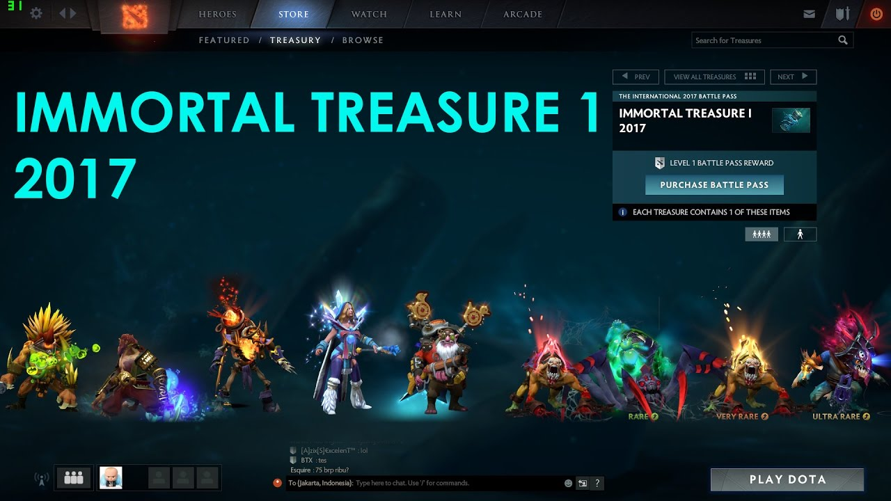 Immortal Treasure I: DOTA 2, Immortal Treasure 1 2017